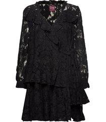 queen lace korte jurk zwart line of oslo