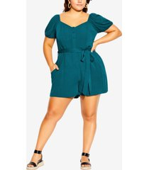 city chic trendy plus size vacation romper