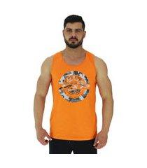 regata clássica masculina alto conceito classic home laranja