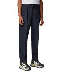 boss men's parko-pleats dark blue pants