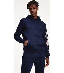 tommy hilfiger men's organic cotton script logo hoodie desert sky - l