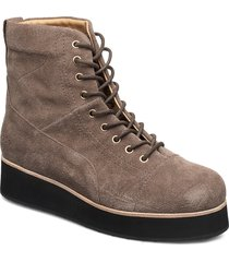 425g walnut suede shoes boots ankle boots ankle boots flat heel brun gram