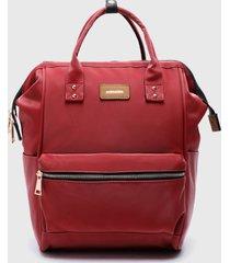 mochila florida rojo amphora