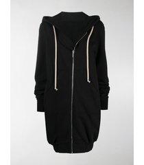 rick owens drkshdw longform zip hoodie