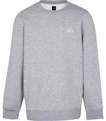 river island mens big & tall grey slim fit sweatshirt
