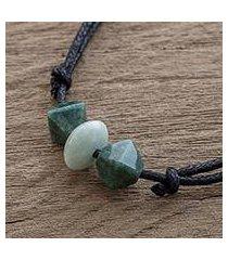 jade pendant necklace, 'contemporary maya' (guatemala)