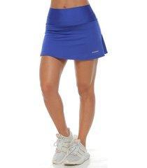 falda deportiva con licra interior,  color azul rey para mujer