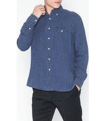 polo ralph lauren linen blend sport shirt skjortor navy