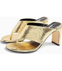 considered valdez vegan toe thong sandals - gold