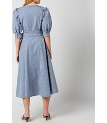 polo ralph lauren women's wrap dress - blue/white plaid - us 2/uk 6