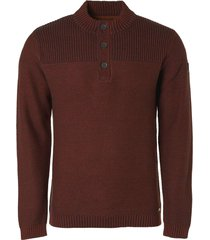 no excess pullover half zip + button plated rusty