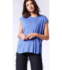 blusa diesel t-drop-a   feminina azul