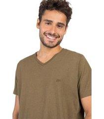 tshirt gola v básica taco masculina