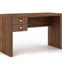 mesa para escritório 2 gavetas me4123 tecno mobili nogal videira