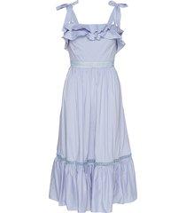 jeanni dress jurk knielengte blauw by malina