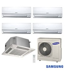 ar condicionado free joint multi samsung inverter 4x 8.900 + cassete 4 vias 1x 17.700 btus quente/frio 220v