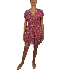 be bop juniors' floral fit & flare dress