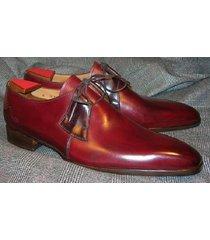 handmade men derby shoes, men burgundy color dress shoes, men formal shoes