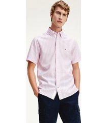 camisa algodón orgánico rosado tommy hilfiger