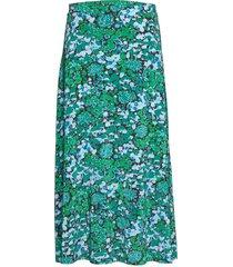 kayla knälång kjol grön jumperfabriken