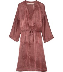 caftan dress in dark blush tie dye