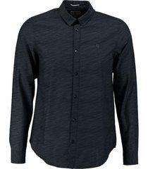 garcia donkerblauw fine cotton overhemd valt kleiner