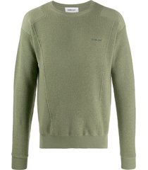 ambush crew-neck knit sweater - green