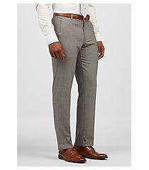 1905 collection slim fit flat front micro check sorona® dress pants clearance by jos. a. bank