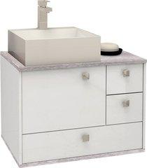 gabinete em mdp moema 60x43,8cm branco e cálcare