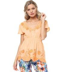 blusa naranja sophya damasia
