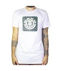 camiseta element leopard block icon masculina