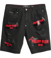 philipp plein denim bermudas