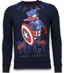 sweater local fanatic captain duck - rhinestone sweater -