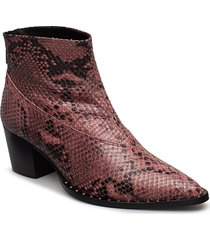 ava boots ms19 shoes boots ankle boots ankle boots with heel röd gestuz