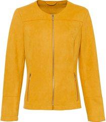 blazer in similpelle scamosciata (oro) - bodyflirt