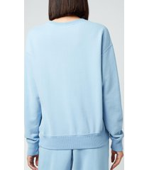 polo ralph lauren women's patch logo sweatshirt - alpine blue - s