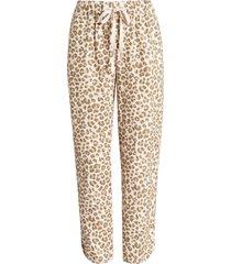 women's caslon track style linen pants, size medium - beige