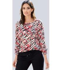 blouse alba moda offwhite::koraal::zwart