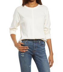women's madewell newville cotton t-shirt, size x-large - ivory