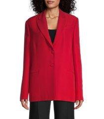 valentino women's silk & wool blazer - red - size 40 (4)