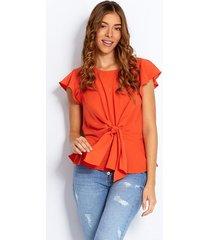 blusas naranja derek 818636