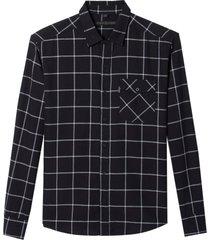 camisa john john bruno algodão xadrez masculina (xadrez, gg)