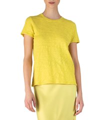 women's atm anthony thomas melillo schoolboy cotton crewneck t-shirt, size x-small - yellow