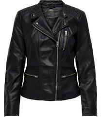 leren jas only veste femme freya imitation cuir biker