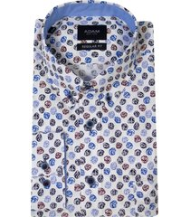 adam est 1916 adam overhemd casual buttondown roosjes print wit