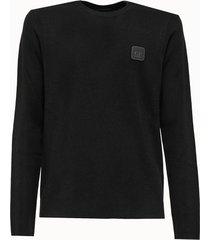 c.p company maglia in misto lana con patch