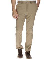 pantalón hombre slim stretch chino algodón crudo
