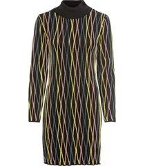 abito in maglia a collo alto (nero) - bodyflirt boutique