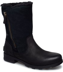 emelie foldover shoes boots ankle boots ankle boots flat heel svart sorel