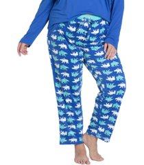 muk luks plus size stretch-fleece pajama pants